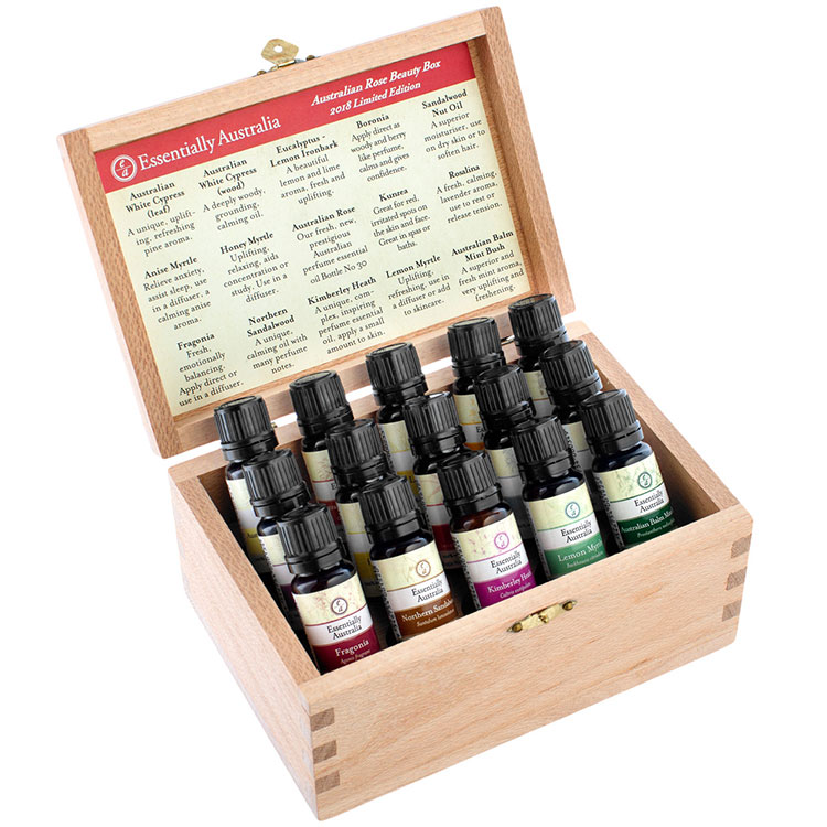 Australian Rose Beauty Box Essential Oil Set Box